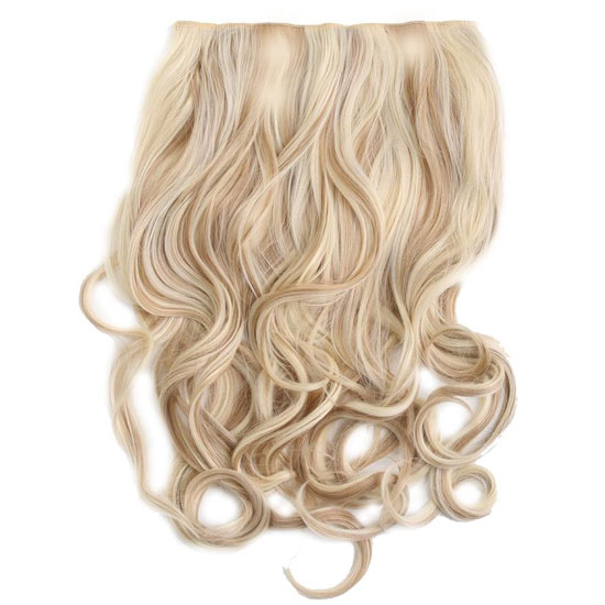 Hollywood Hair - Secret Clip-In Hair Extensions - Light Blonde