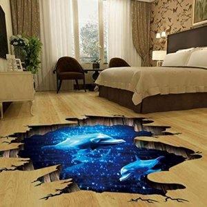 3D-Wall-Sticker-Floor-Sticker-Dolphin