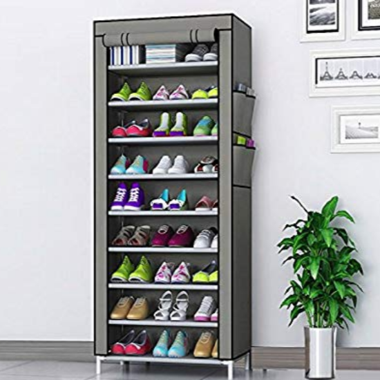 9-Tier-Shoe-Rack-Grey