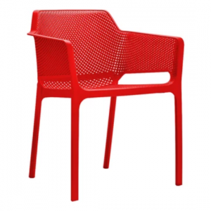 Netted-Arm-Chair-Red