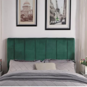StrohBerry-Fine-Living - Nebraska-Velvet-Headboard - Emerald-Green