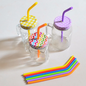 Silicone-Straws - 6-pack